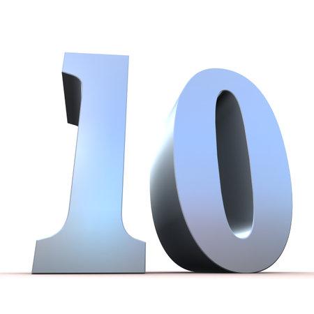 number 50: silver number - 10
