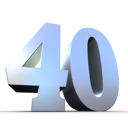40: silver number - 40