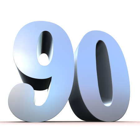 90: silver number - 90  Stock Photo