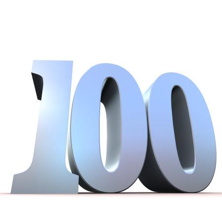 massive: silver number - 100