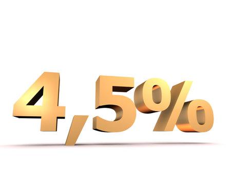 4 5: golden 4,5 percent