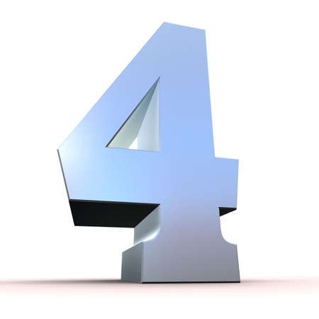 silver number - 4  photo