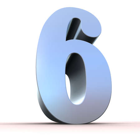 numerical: silver number - 6