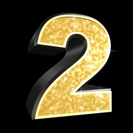 lettres en or: nombre d'or - 2 Banque d'images