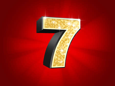 golden number - 7  photo