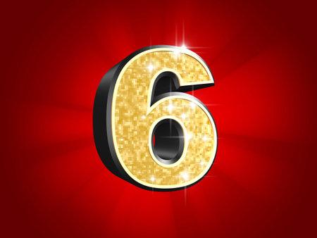 golden number - 6  photo