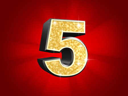 number 5: golden number - 5