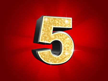number five: golden number - 5