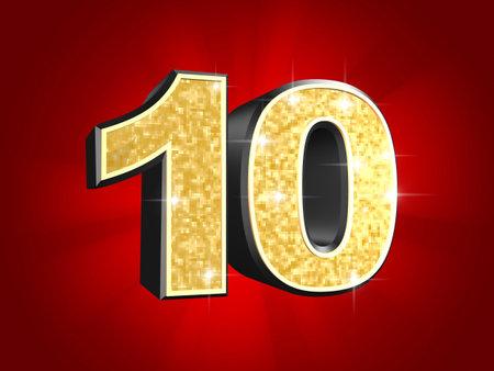 numero diez: número de oro - 10