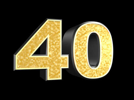 golden number 40  photo