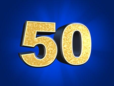 number 50: golden number - 50