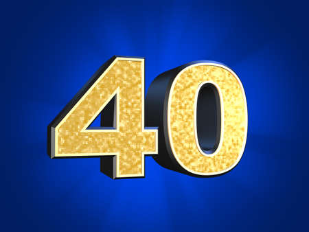 golden number - 40  photo