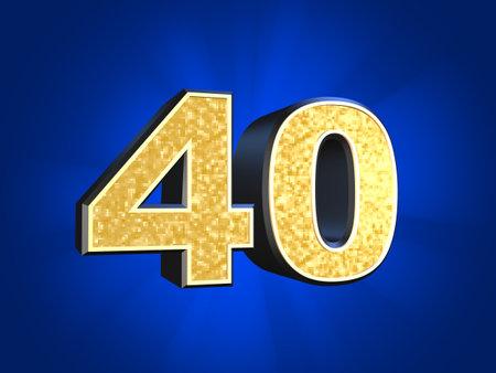 golden number - 40  photo