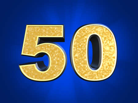 number 50: golden number 50  Stock Photo