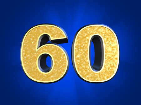 golden number 60 Stock Photo - 11022480