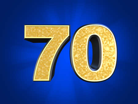 70: golden number 70  Stock Photo
