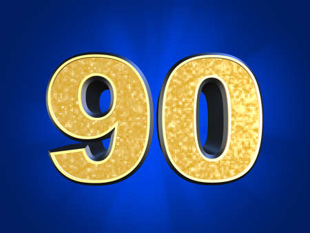 golden number 90  photo