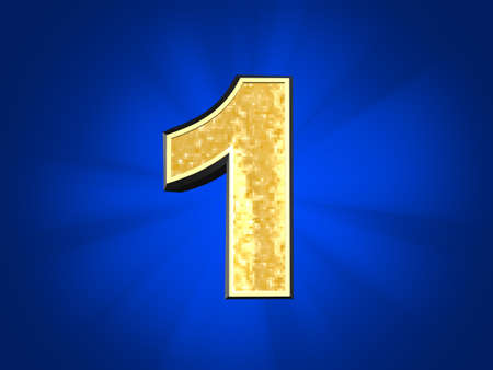 golden number one  Stock Photo