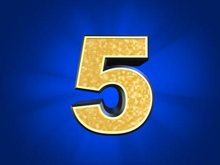 five element: golden number 5
