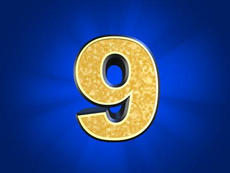 golden number 9  photo