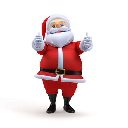 3d rendered illustration of a santa claus Imagens