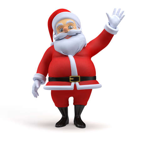 3d rendered illustration of a santa claus Stock Photo