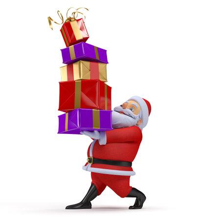 3d rendered illustration of a santa claus Stock fotó