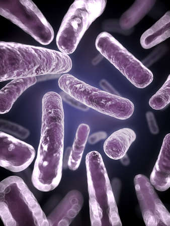 microbes: 3d rendered scientific illustration of some bacteria Stock Photo