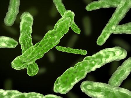 3d rendered illustration of some bacteria Stock Illustration - 12845355