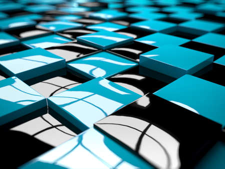 3d rendered abstract illustration of a cube pattern Stock Illustration - 12585906