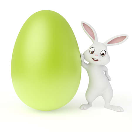 3d rendered illustration of a cute easter bunny illustration