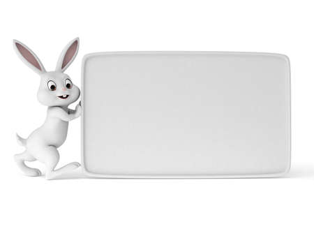 3d rendered illustration of a cute easter bunny Stock Illustration - 12585728