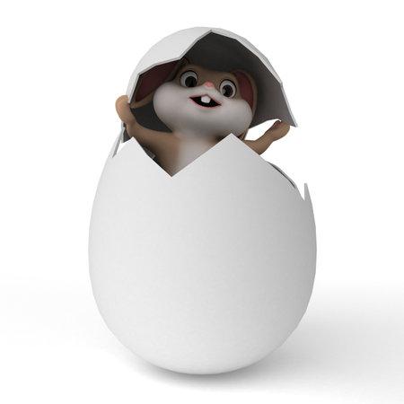 3d rendered illustration of a cute easter bunny illustration
