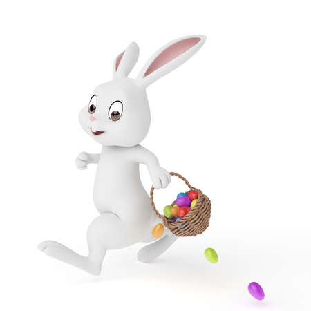 3d rendered illustration of a cute easter bunny Stock Illustration - 12585768
