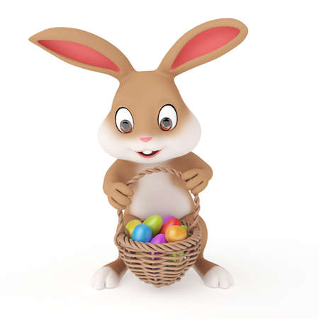 hunts: 3d rendered illustration of a cute easter bunny