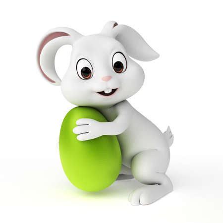 traditions: 3d rendered illustration of a cute easter bunny