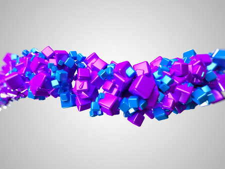 3d rendered illustration of some floating cubes illustration