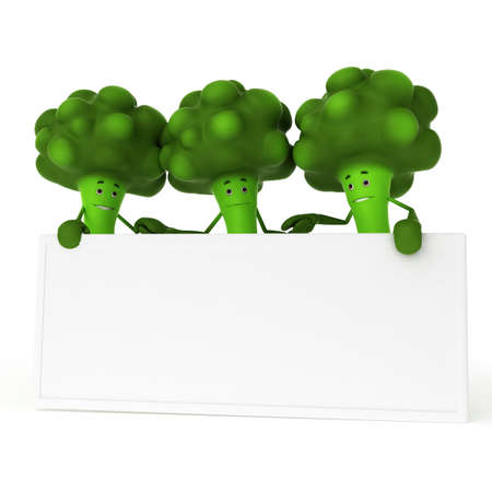 3d rendered illustration of a food character - broccoli illustration