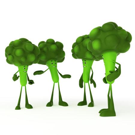 3d rendered illustration of a food character - broccoli illustration