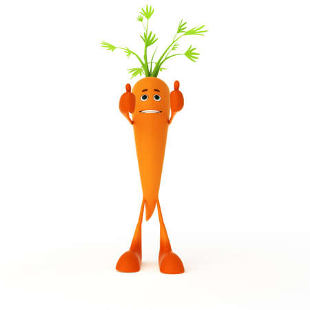 3d rendered illustration of a food character - carrot