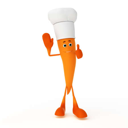 3d rendered illustration of a food character - carrot illustration