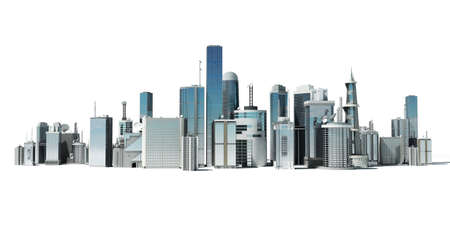 large office: 3d rendered illustration of a futuristic city Stock Photo
