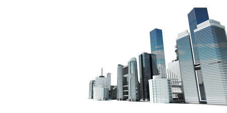 3d rendered abstract illustration of a city skyline illustration
