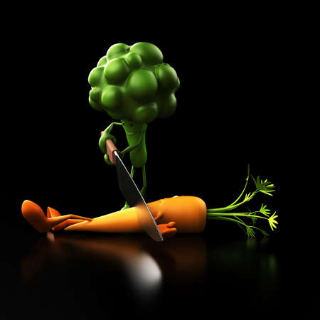 funny food: 3d rendered illustration of some funny food characters Stock Photo