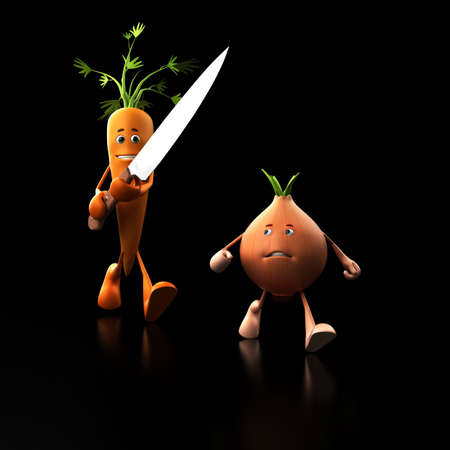 3d rendered illustration of some funny food characters Stock Illustration - 13273363