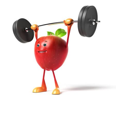 fresh fruit: 3d rendered illustration of a red apple
