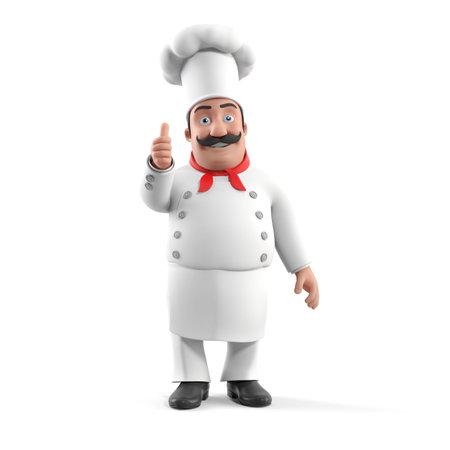 3d rendered illustration d'un chef de cuisine