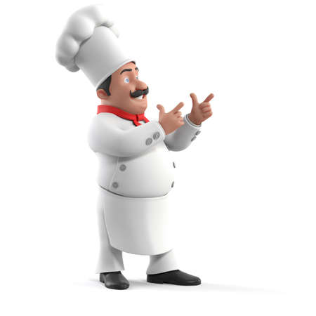 chef 3d: 3d rendered illustration of a kitchen chef