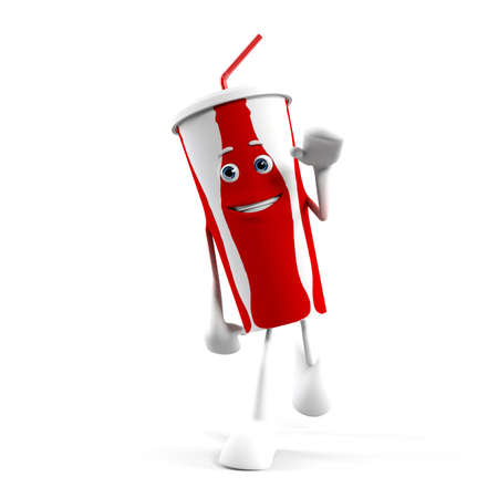 soda pop: 3d rendered illustration of a cola cup character