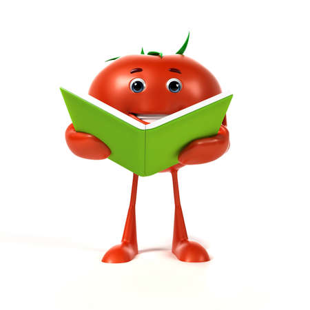 3d rendered illustration of a tomato character Stock Illustration - 17426680